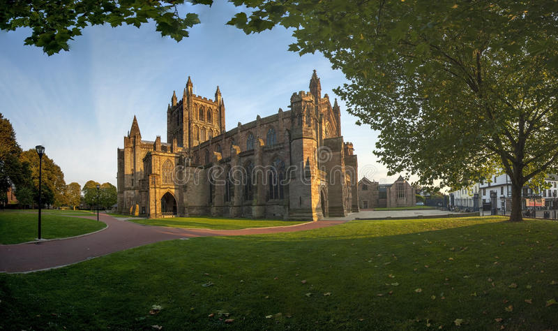 Cathedral Hereford. England UK Western Europe royalty free stock photography