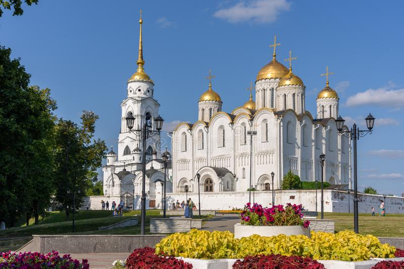 Cathedral in the historic part of Vladimir city - Russia. Russian Golden Ring royalty free stock images