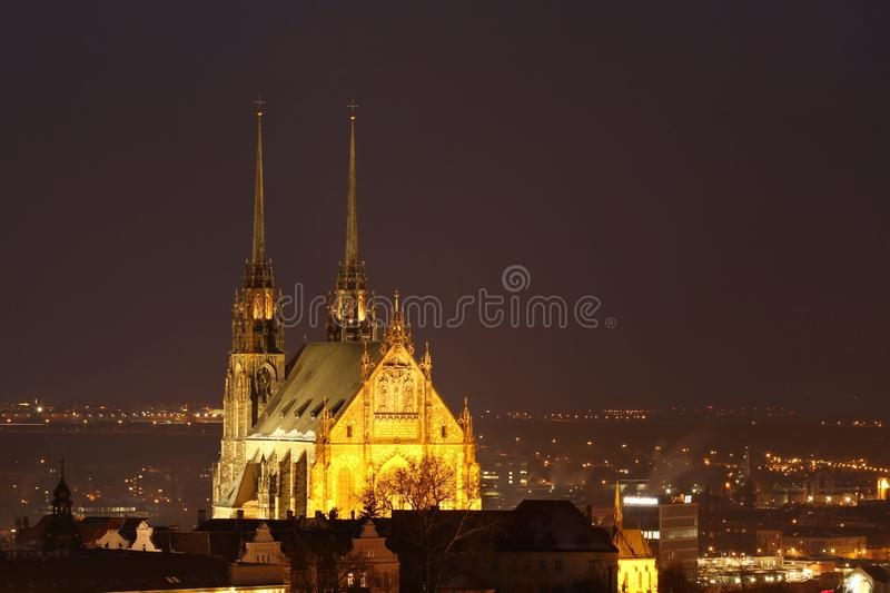 Cathedral In Brno Royalty Free Stock Images