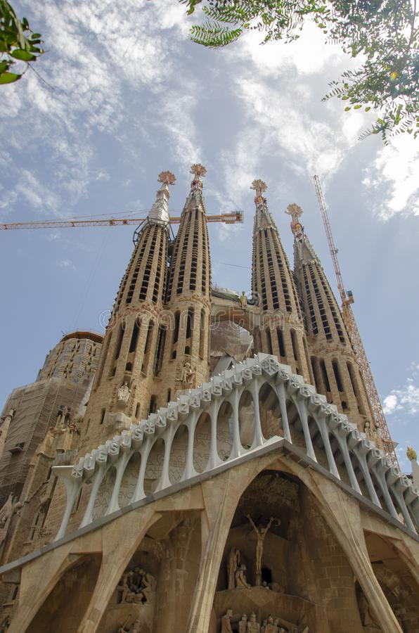 Cathedral in spain barcelona royalty free stock photos