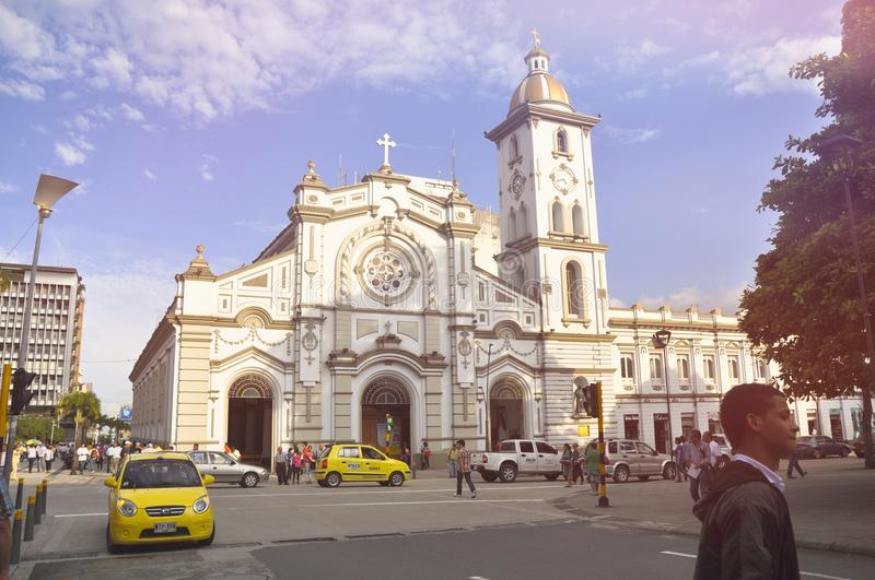 Cathedral of Ibagué Colombia stock photo