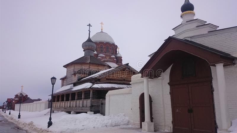 Cathedral of the Icon of the Mother of God Joy of All Who Sorrow 1906 in Sviyazhsk island, Russia. Architecture christianity church famous history old russian royalty free stock photo
