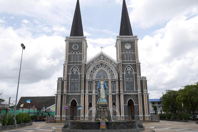 Cathedral of the Immaculate Conception in Chantaburi Thailand stock photos