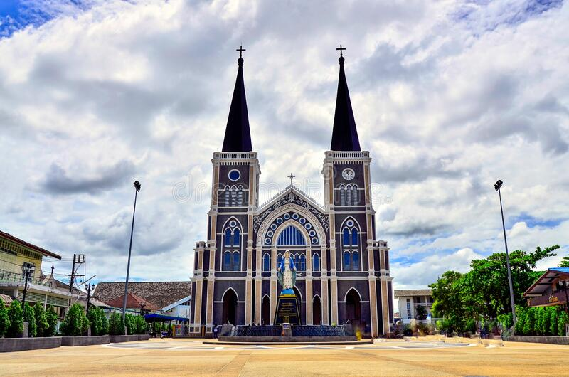 Cathedral of Immaculate Conception, Chanthaburi province in Thailand. stock photo