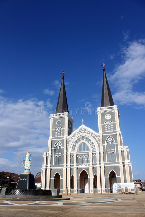 The Cathedral of The Immculate Conception Chanthab royalty free stock photo