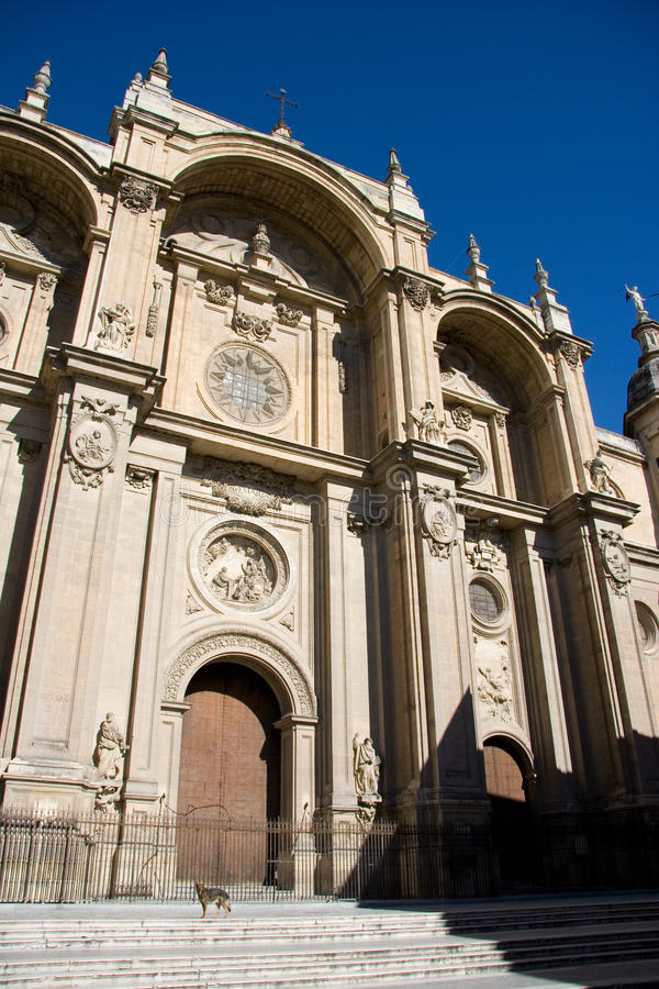 Cathedral of the Incarnation, Granada stock image