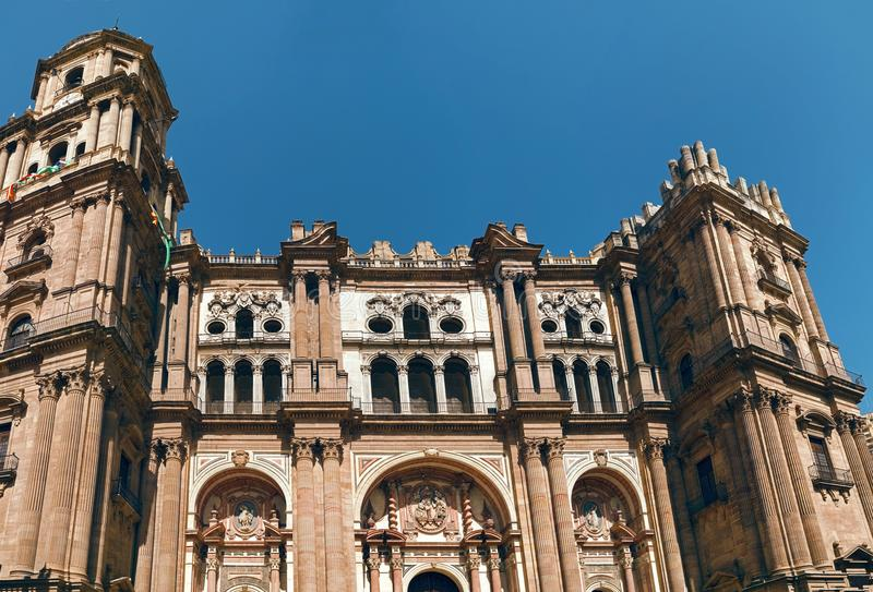 Cathedral of the Incarnation of Malaga royalty free stock images