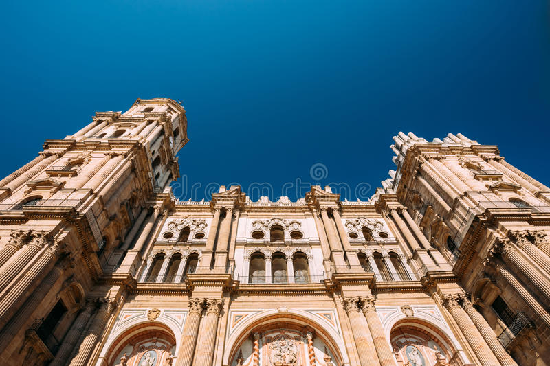 Cathedral of the Incarnation in Malaga, Spain royalty free stock image