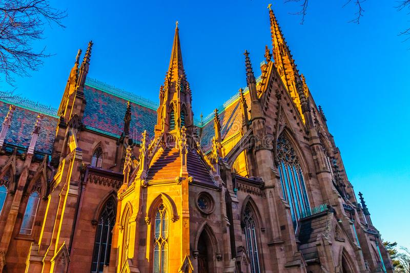 Cathedral of the Incarnation on the Sunset, Garden City, New York stock images