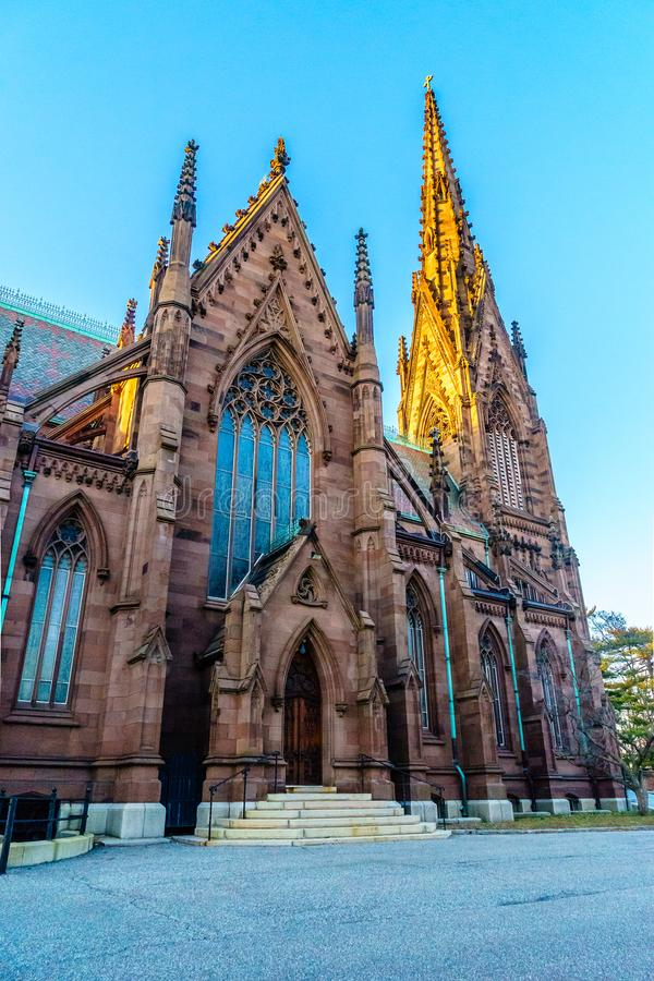Cathedral of the Incarnation on the Sunset, Garden City, New York royalty free stock photo