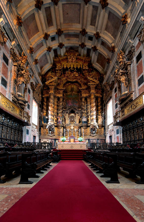 Download Cathedral interior stock image. Image of catholic, confessional - 11212177
