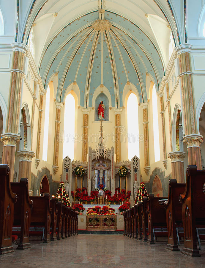 Download Cathedral interior stock image. Image of religion, season - 21038257