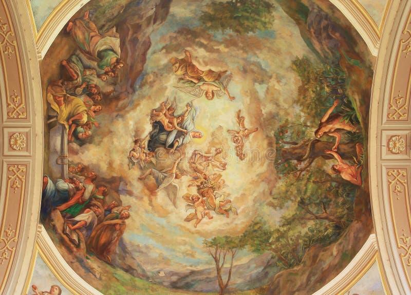 Cathedral interior fresco royalty free stock photos