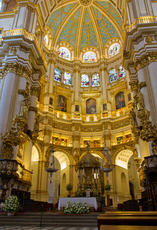 Cathedral Interior Granada Spain Royalty Free Stock