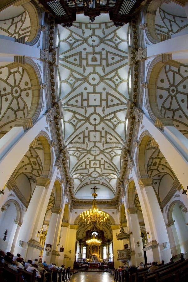 cathedral& x27; interno di s, Zamosc, Polonia fotografia stock libera da diritti