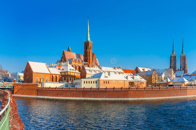 Cathedral Island in the morning, Wroclaw, Poland stock image