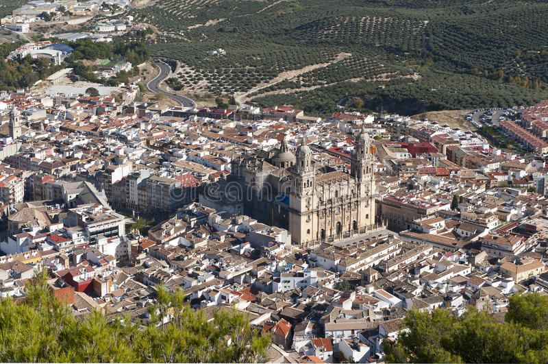Cathedral at Jaen City Spain royalty free stock photo