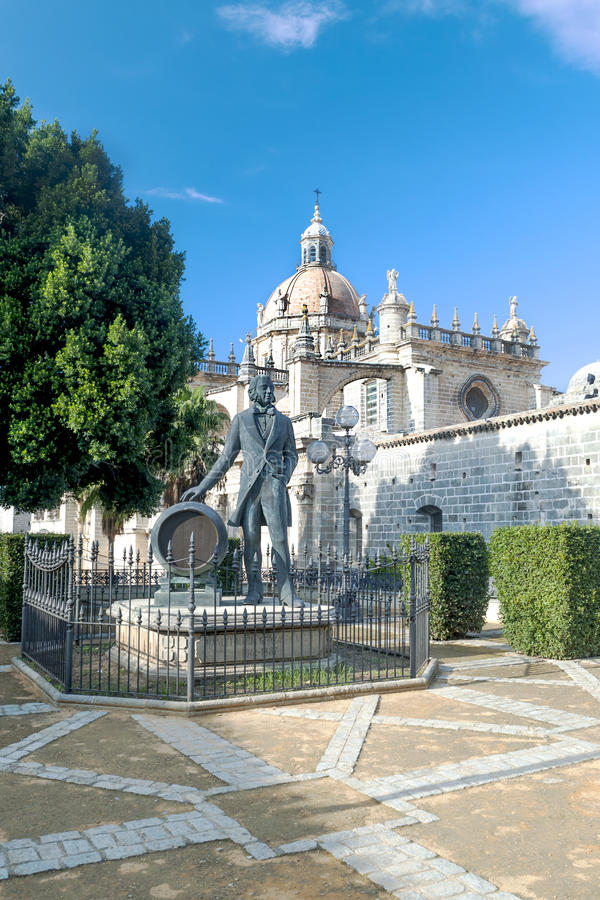 Download Cathedral of Jerez stock image. Image of colored, architecture - 27572555
