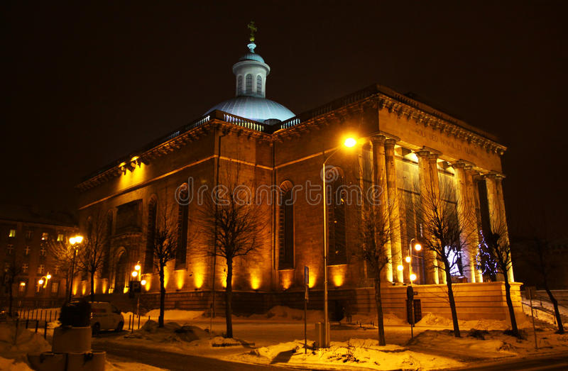 Cathedral in Katowice, Poland royalty free stock photos