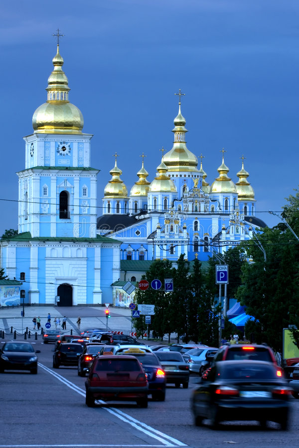 cathedral kiev michael s st στοκ φωτογραφία με δικαίωμα ελεύθερης χρήσης