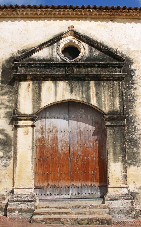 Cathedral, La Asuncion, Isla Margarita, Venezuela. Door of the Cathedral Nuestra Senora de la Asuncion, La Asuncion, Isla Margarita, Venezuela royalty free stock photo