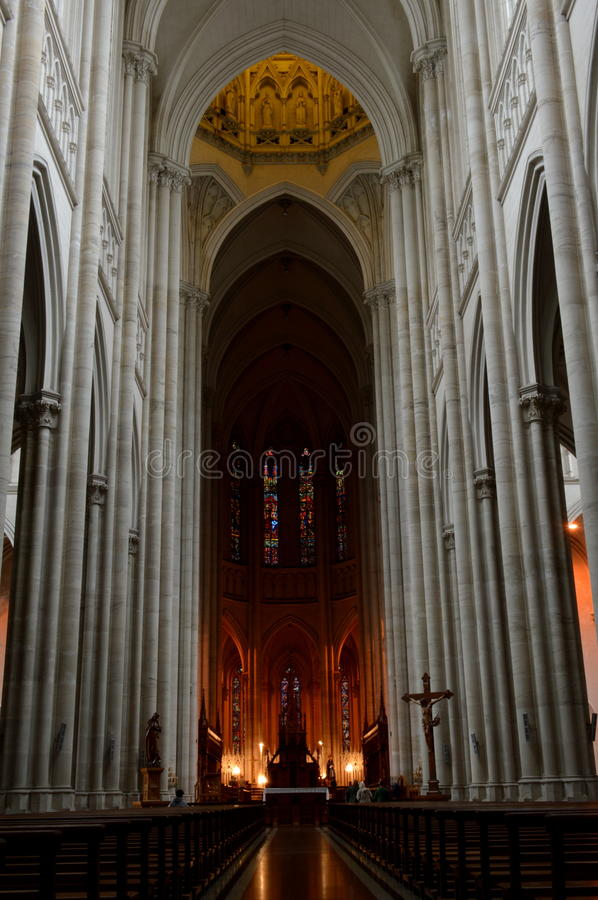 Cathedral of La Plata. Inside of the Cathedral of La Plata, Buenos Aires stock photos
