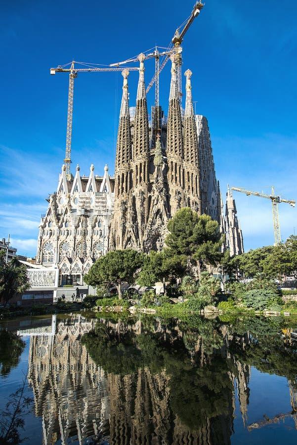The Cathedral of La Sagrada Familia by the architect Antonio Gaudi, Catalonia, Barcelona Spain stock photography