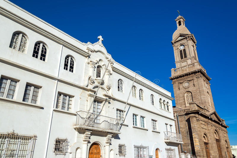 Cathedral in La Serena, Chile. View of the cathedral in La Serena, Chile royalty free stock photo
