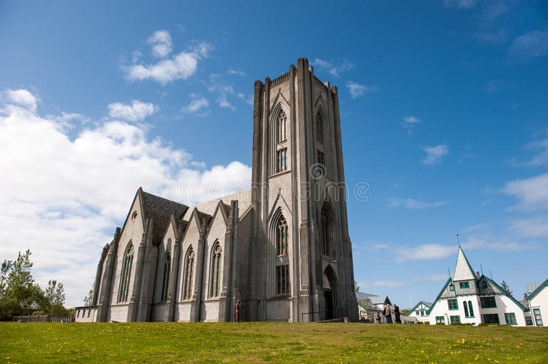 Cathedral Landakotskirkja, Basilica of Christ the King, Reykjavik royalty free stock photo