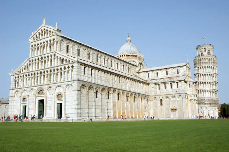 Cathedral leaning tower Pisa royalty free stock images