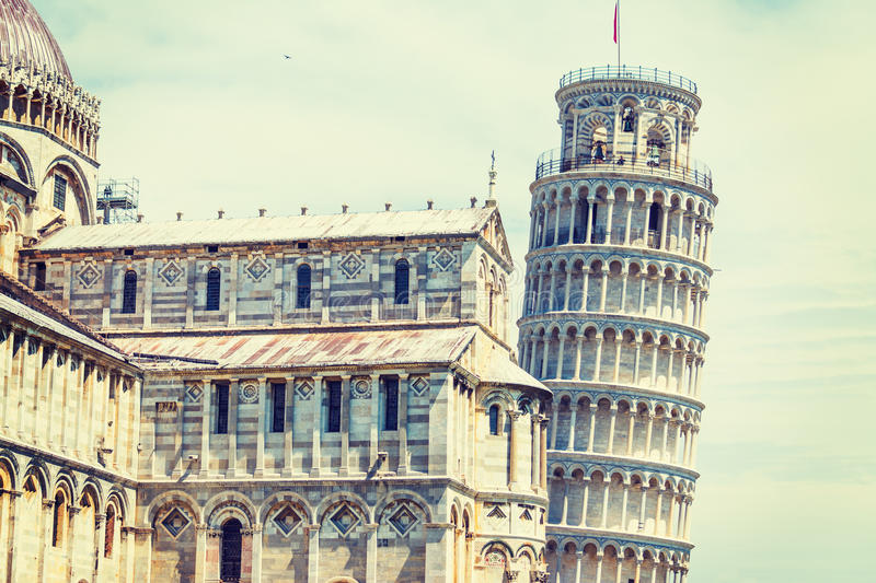 Cathedral and leaning tower in Pisa. Italy stock image