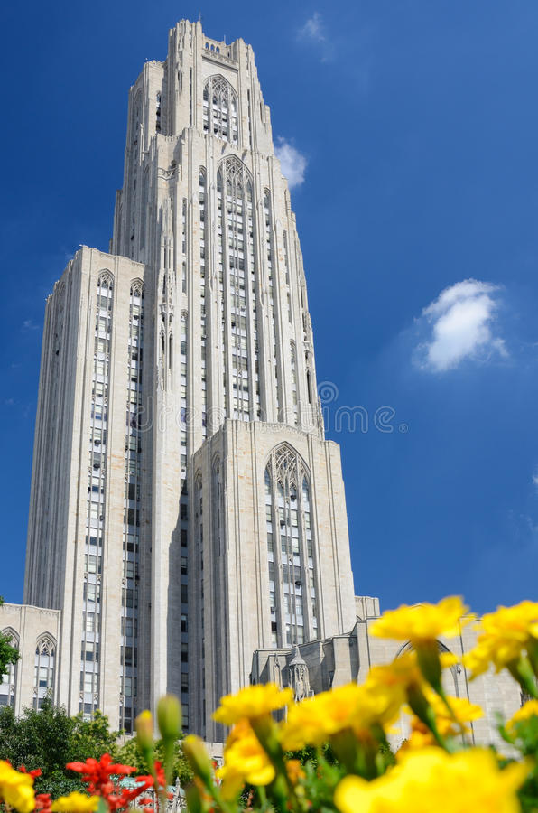Cathedral of Learning. At the University of Pittsburgh, in the Oakland neighborhood of Pittsburgh, Pennsylvania royalty free stock images