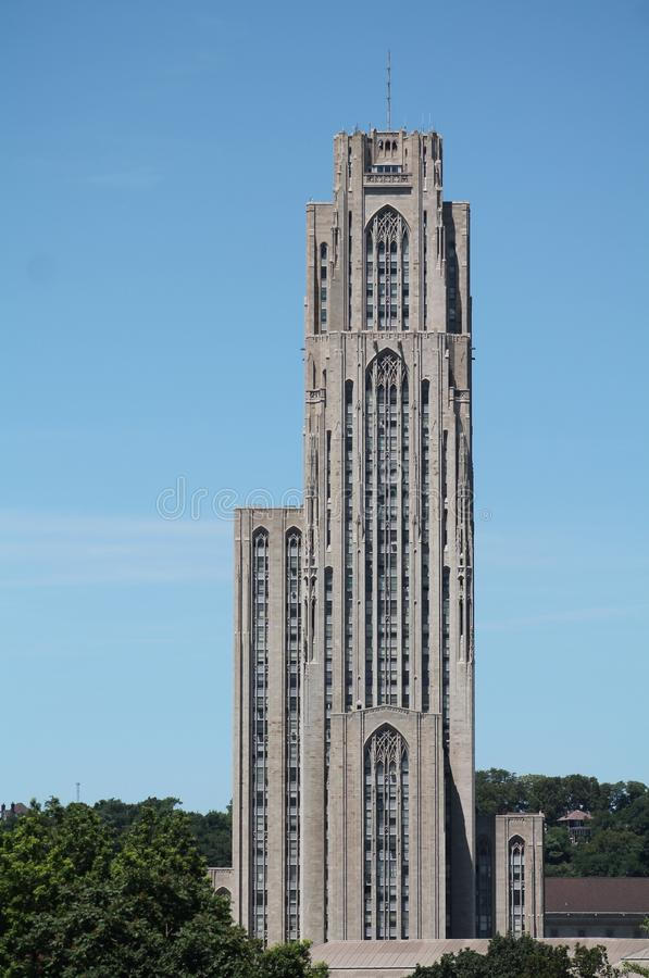 The Cathedral of Learning. Oakland, Pennsyvlania royalty free stock photography