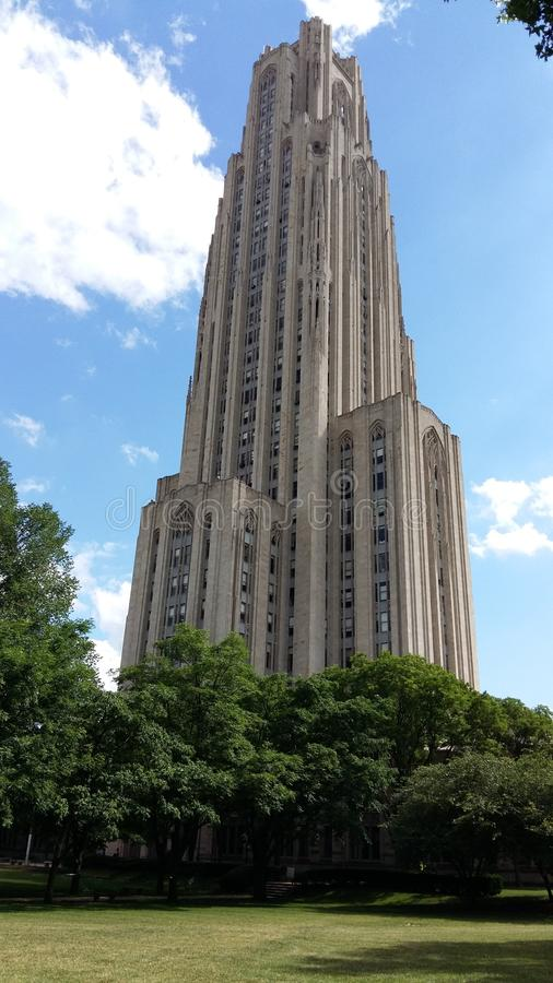Cathedral of Learning - Pittsburgh, Pennsylvania. Is the centerpiece of the University of Pittsburgh`s main campus in the Oakland neighborhood of Pittsburgh royalty free stock image