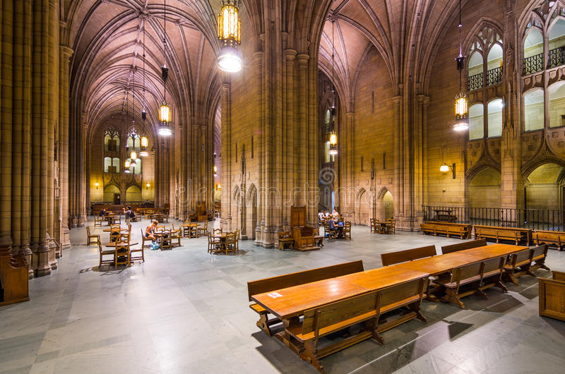 Cathedral of Learning. PITTSBURGH, PENNYSLVANIA - AUGUST 7, 2012: The interior of the Cathedral of Learning. The historic landmark functions as a primary royalty free stock photo