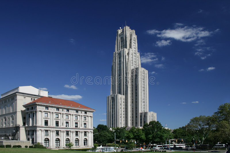 Cathedral of Learning University of Pittsburgh. Tower stock photo