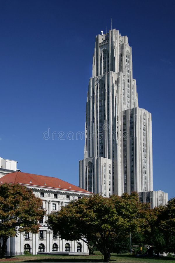 Cathedral of Learning University of Pittsburgh. Tower royalty free stock photo