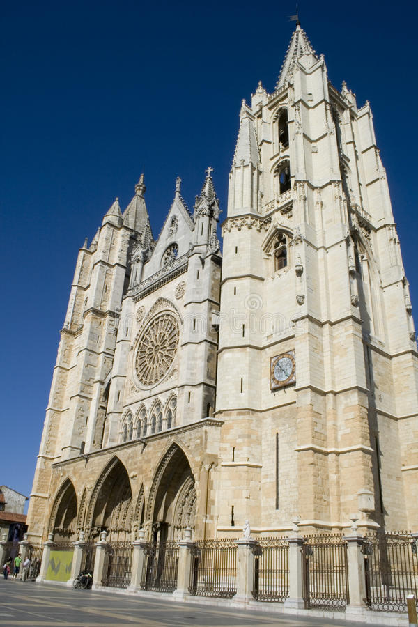 Cathedral Leon stock photography