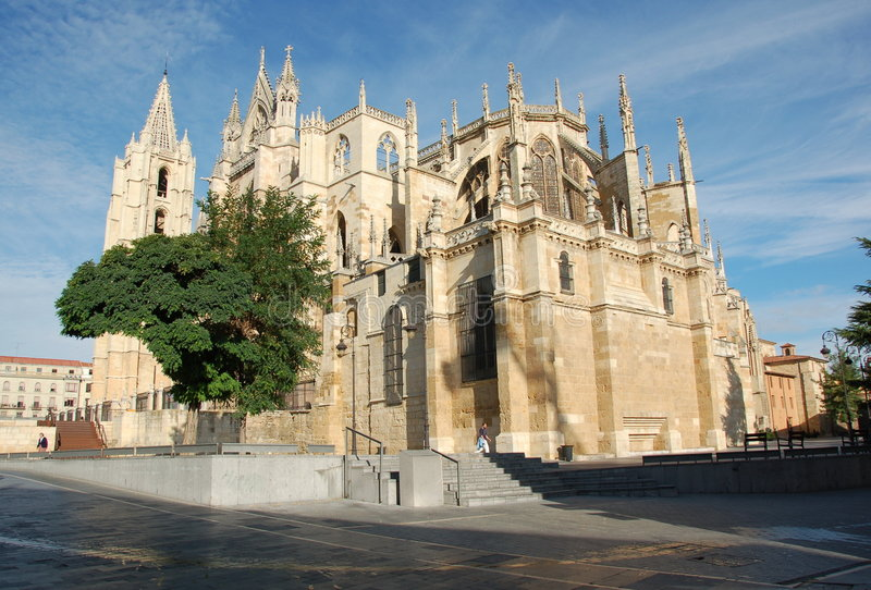 Download Cathedral in Leon stock photo. Image of tourism, famous - 2313332