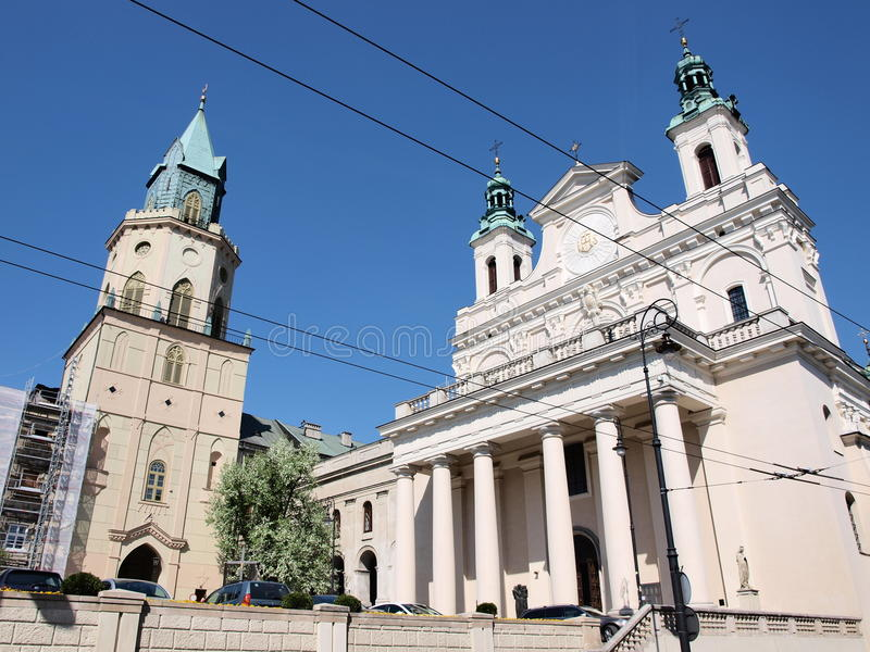 Download Cathedral, Lublin, Poland stock image. Image of colonnade - 25277865
