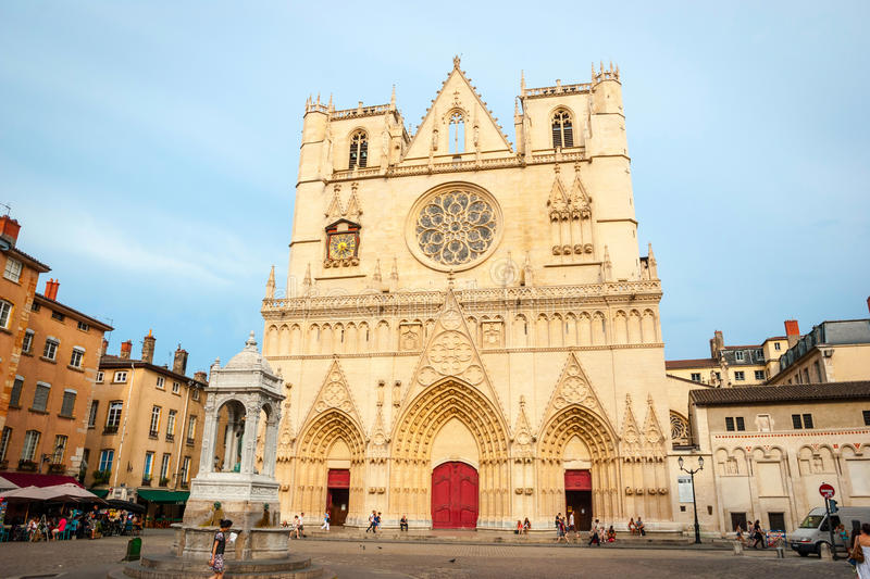 Cathedral of Lyon, France stock images