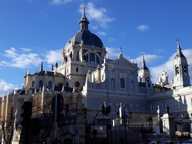 Cathedral of Madrid stock image