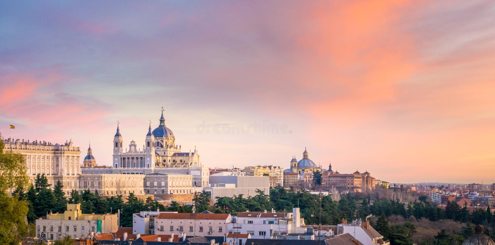The Cathedral of Madrid royalty free stock image