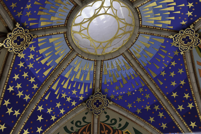 Cathedral Madrid ceiling royalty free stock photos