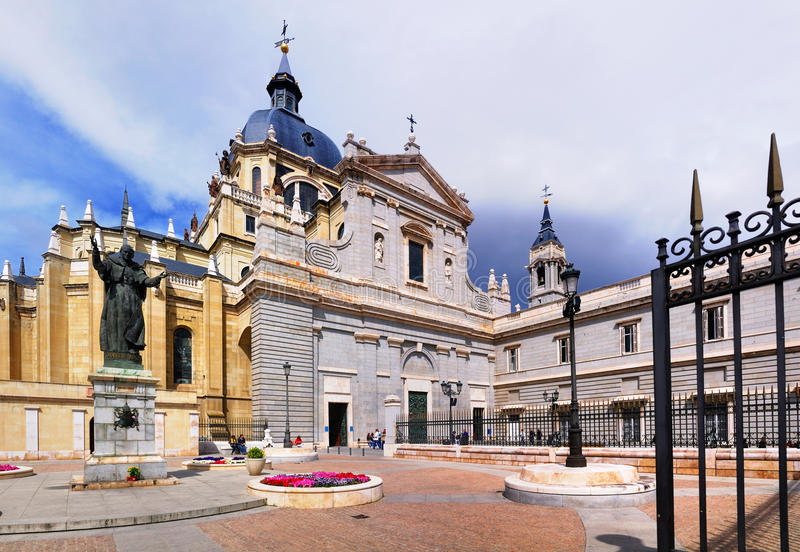 Cathedral, Madrid, Spain royalty free stock photos