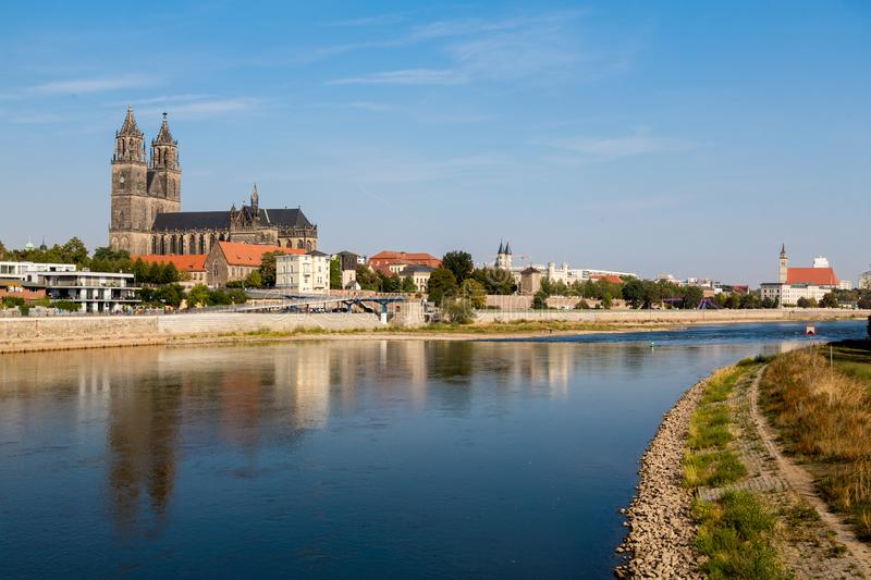 Cathedral of Magdeburg stock photography