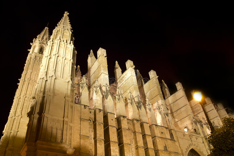 Download Cathedral Of Majorca In Palma De Mallorca Night Stock Image - Image: 20322149