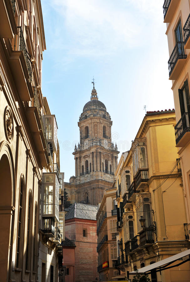The Cathedral of Malaga, Andalusia, Spain royalty free stock image