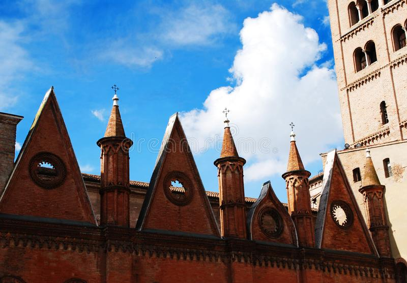 The cathedral of Mantova royalty free stock photos
