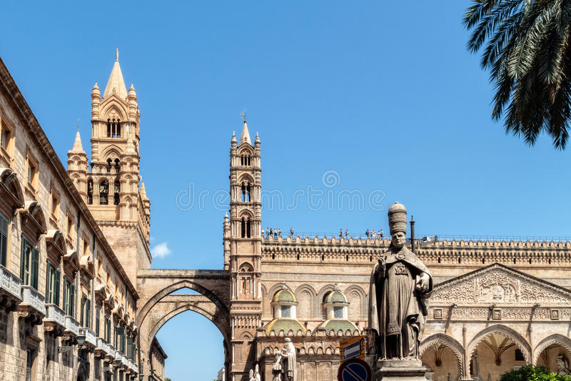 Cathedral Maria Santissima Assuanta Of Palermo In Sicily Stock Image